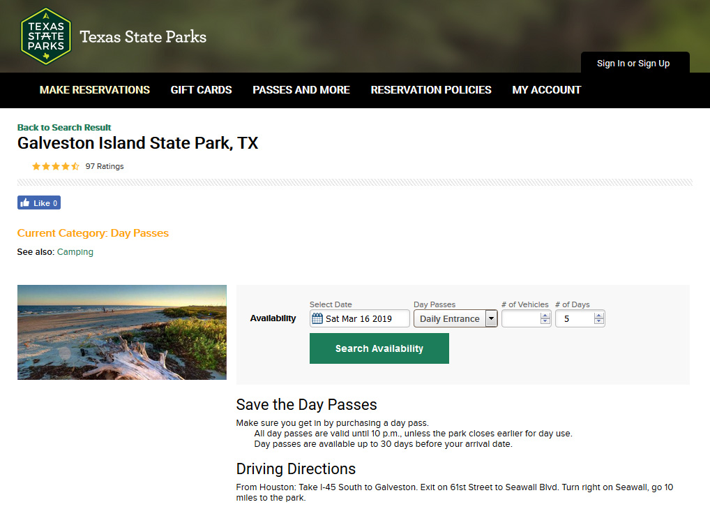 Use the Park's new online reservation system – Friends of